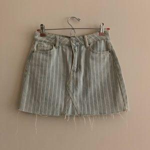 PacSun striped denim mini skirt